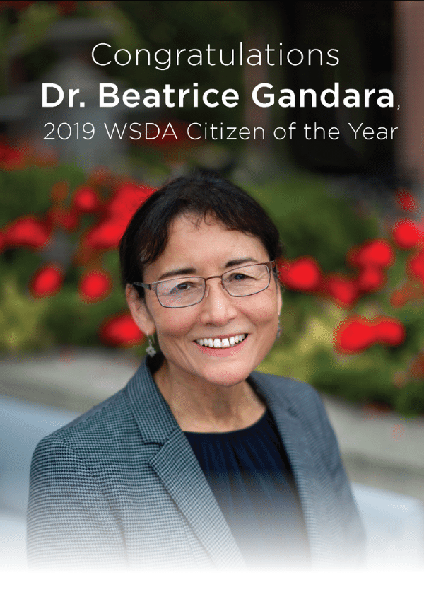Dr. Beatrice Gandara 2019 WSDA Citizen of the Year